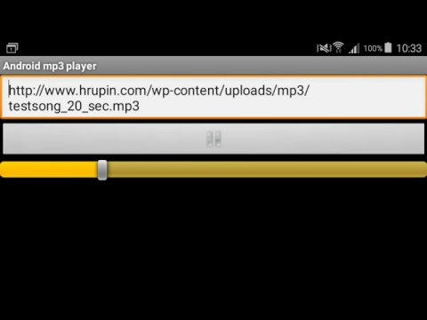 Example of streaming mp3 mediafile from URL with Android MediaPlayer