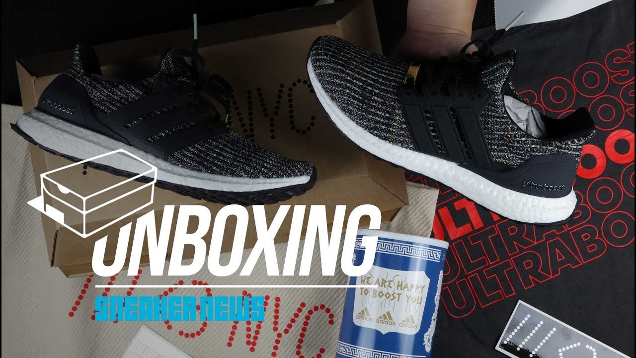 "ea76b3bf7 Unboxing adidas Ultra BOOST ""NYC Bodega"" - YouTube"