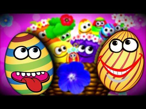 Поющие Веселые ЯЙЦА | Мульт Игра - Собираем Одинаковые Яйца в Корзинки