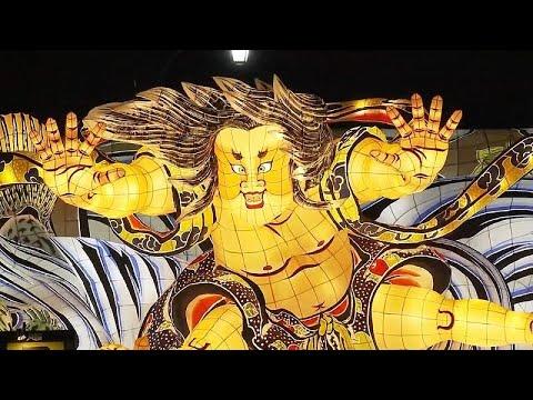 Rengarenk maketleriyle Japonya'nın Aomori Nebuta Festivali'ne 3 milyon ziyaretçi bekleniyor