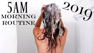 2019 5AM Optimal Morning Routine | NEW YEAR NEW ME | Productive & Healthy