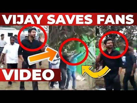 VIDEO: THALAPATHY VIJAY Saves his Fans   Thalapathy 63