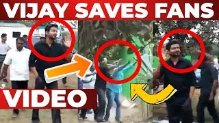 VIDEO: THALAPATHY VIJAY Saves his Fans | Thalapathy 63