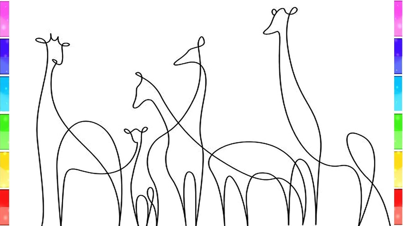 One Line Animals Drawing One Line Animal Painting Creative Ideas