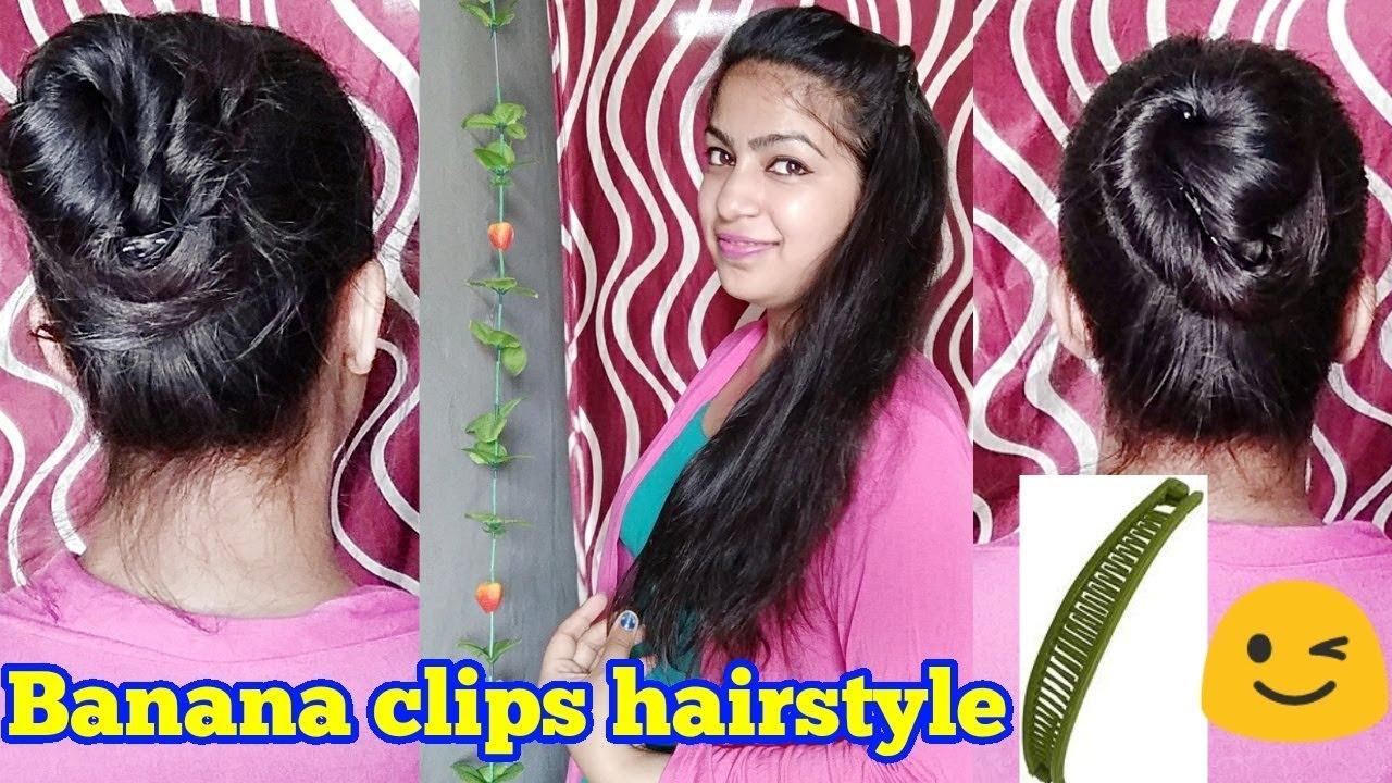 Banana Clip Hairstyle Tutorial Juda With Banana Clip Banana