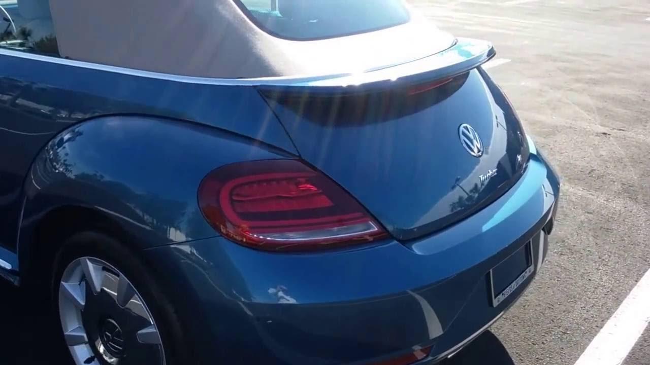 2017 Volkswagen Beetle SEL Convertible Silk Blue Lightning Package - YouTube
