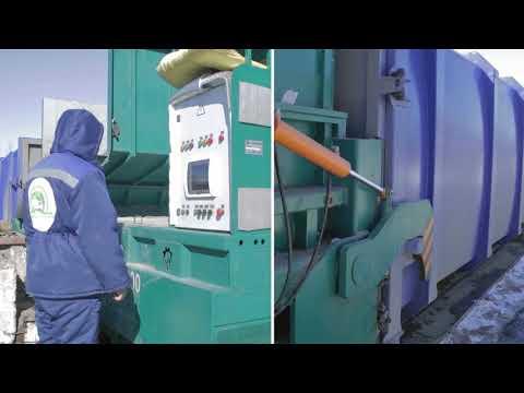 Мусороперегрузочная станция с использованием пресс-компактора РжевМаш RMZ PC40 200
