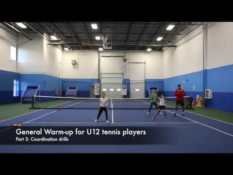 General Warm-up for U12 tennis players