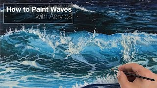 How to Paint Waves - Acrylics