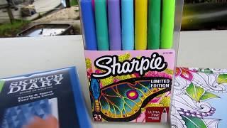 Обзор маркеров Шарпи. Sharpie. Ultra fine набор из 21 штуки. Конкурс завершён.
