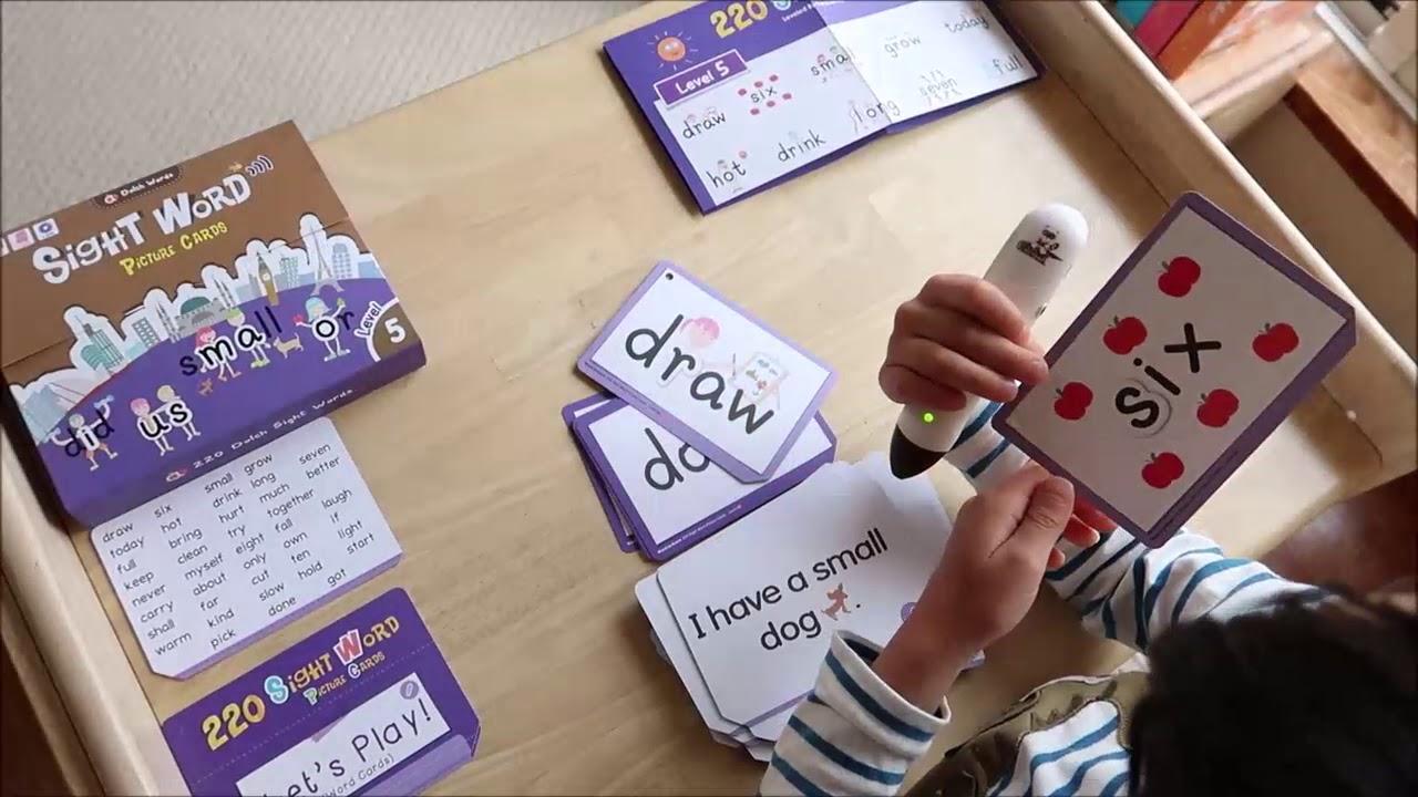 5Y9M小寶哥玩 Sight Words 英文常見字點讀字卡 - YouTube
