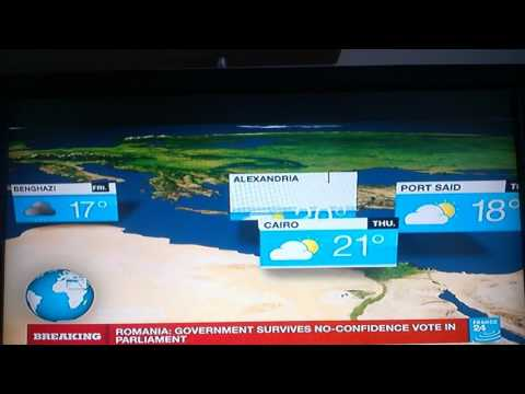 Flat earth at France 24 channel broadcast