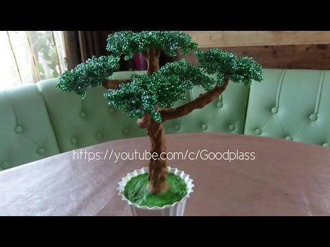 Дерево из бисера бонсай из бисера мастер класс с пошаговым фото