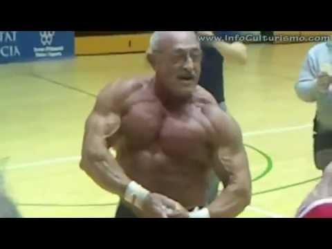 AMAZING 70 year old from spain bodybuilder 2011 lifting 220 pounds 26 times.mp4