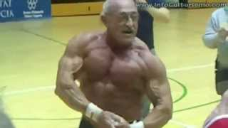 amazing 70 year old from spain bodybuilder 2011 lifting 220 pounds 26 times mp4