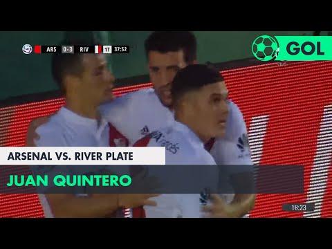 Juan Quintero (0-3) Arsenal vs River Plate | Fecha 24 - Superliga Argentina 2017/2018