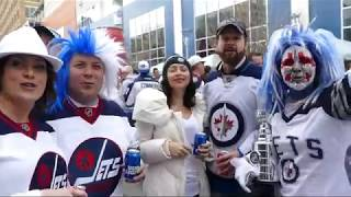 """Winnipeg Jets Whiteout Street Party Goes """"WIld"""" - Game 5- 2018-04-20"""