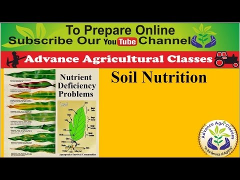 Soil Nutrition part - 5 for Agricultural Field  Officer (Hindi/English)