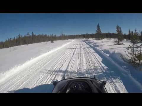Snowmobiling Oneida county trails WI. Part 1