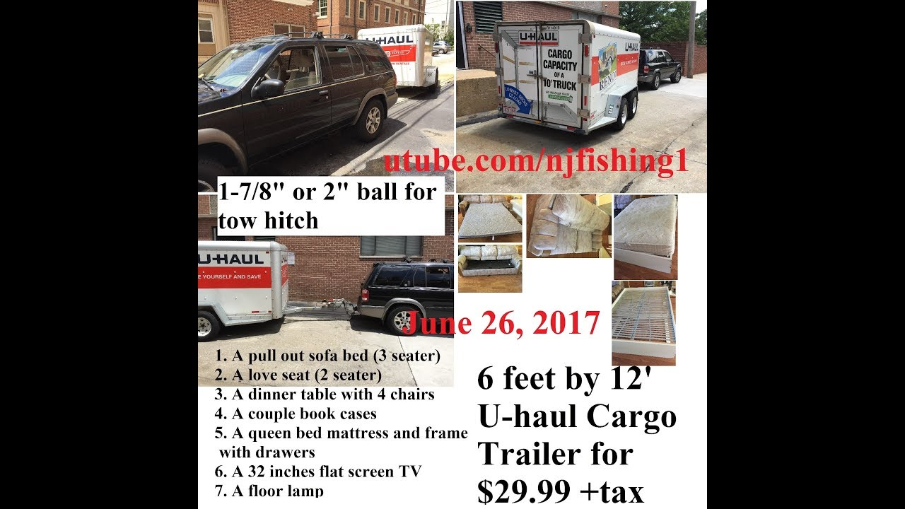 U-haul cargo trailer for moving - save $$$ - YouTube
