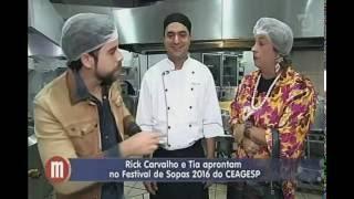 Tia no festival de sopas do Ceagesp