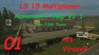 LS 15 Multiplayer Ackendorf #1 Das ist unsere neue Map [german/deutsch]