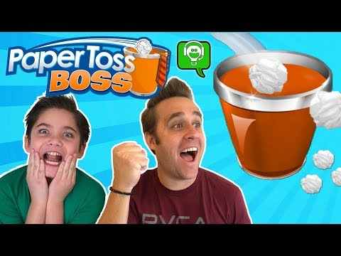 Paper Toss Boss Gameplay + Balloon Throw Challenge with HobbyKidsGaming