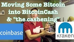 Moving Bitcoin to Bitcoin Cash BTC to BCH the cashening