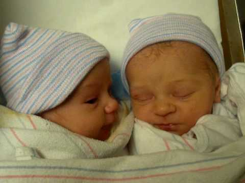 Newborn twin girls gone wild
