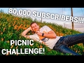 80,000 SUBS!! PICNIC CHALLENGE IN THE MIDDLE OF THE STORE!!!