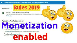 My Channel Monetized. Monetization 2019 rules. How to monetize channel in 2019