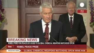 Nobel Peace Prize 2013 goes to chemical weapons watchdog OPCW (recorded live feed)