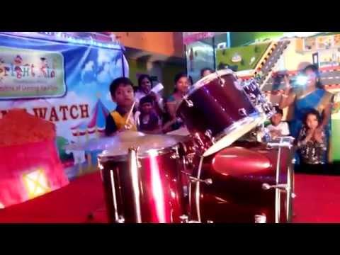 Drum Solo By :Jeremia Philip (APPUS) ! School Talent Show @ Bangalore