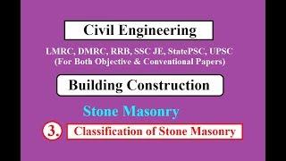 Classification of Stone Masonry | Building Construction