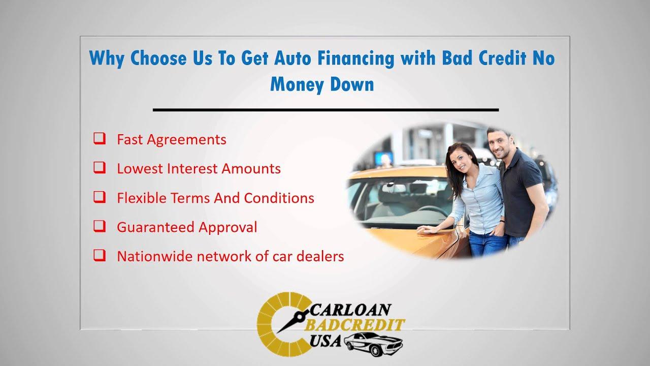No Money Down Car Loans For Bad Credit Auto Loans No Money Down