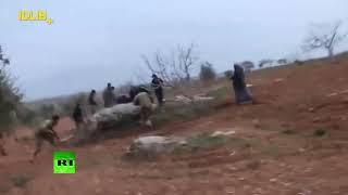 Опубликованы видеокадры, предположительно, последних секунд жизни пилота сбитого в Сирии Су-25