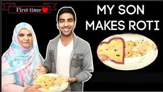 Zaidalit's brother making Roti