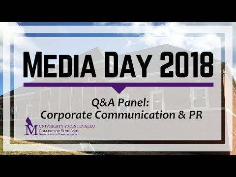Media Day 2018: Corporate Communication & Public Relations Q&A Panel