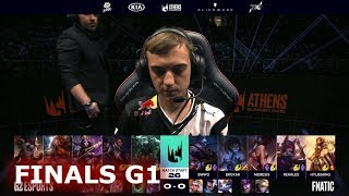 Fnatic vs G2 eSports - Game 1 | Finals S9 LEC Summer 2019 Playoffs | FNC vs G2 G1