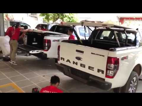 Ford Ranger Installing the pipeline plug is installed Top Up Thailand | Car TV By Car Shoping