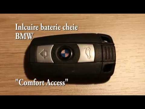 BMW Comfort access key battery replacement  YouTube