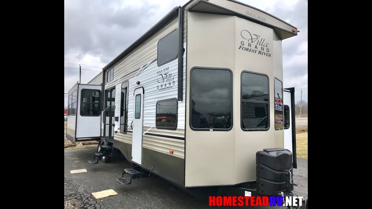 2018 Salem 42dlts Grand Villa Double Loft Triple Slide