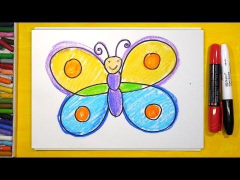 Как нарисовать бабочку ребенку 7 лет