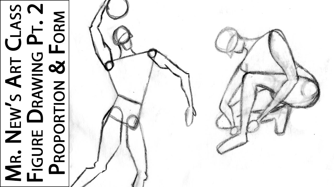 Proportions and Form - How to Draw the Human Body Part 2 - Step by ...