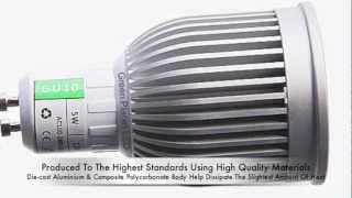 gu10 led 5w 120 degree cob bulb green planet led