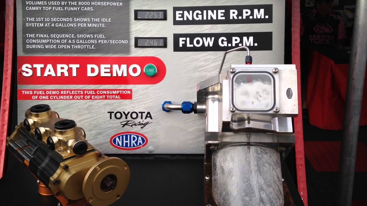 Top Fuel Dragster - Fuel System Demo - YouTube