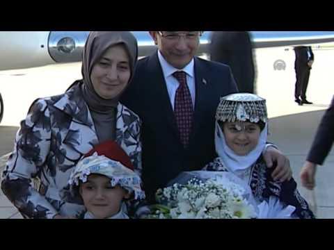 Turkish Prime Minister Ahmet Davutoglu in Antalya