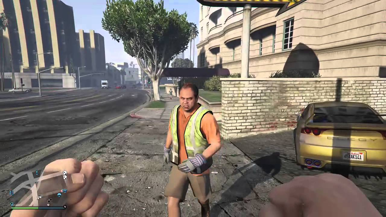 Gta V Angry Construction Worker Hilarious Youtube