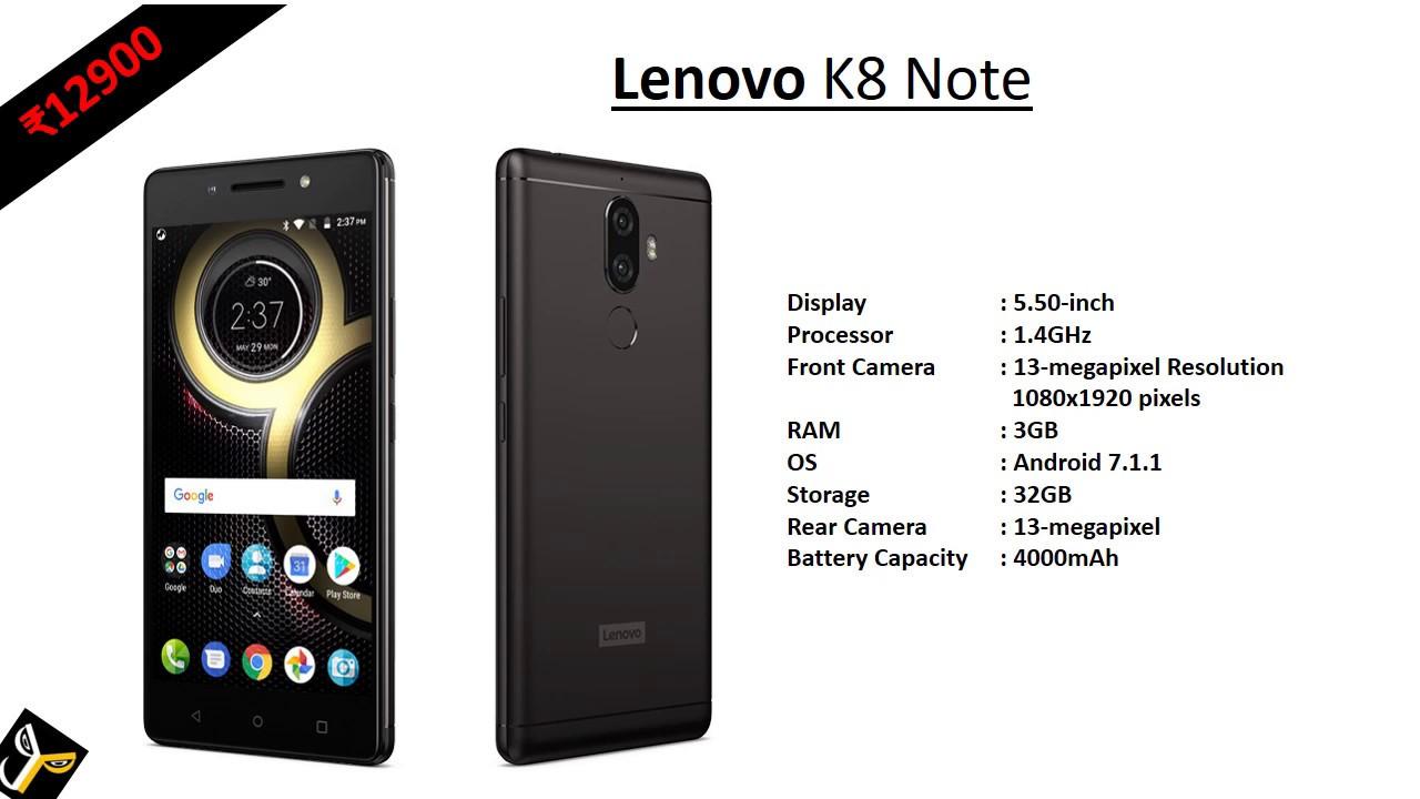 LENOVO K8 NOTE - YouTube