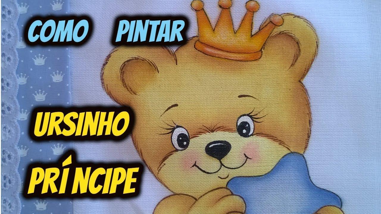Como Pintar Ursinho Principe Desenhos Crocantes Youtube